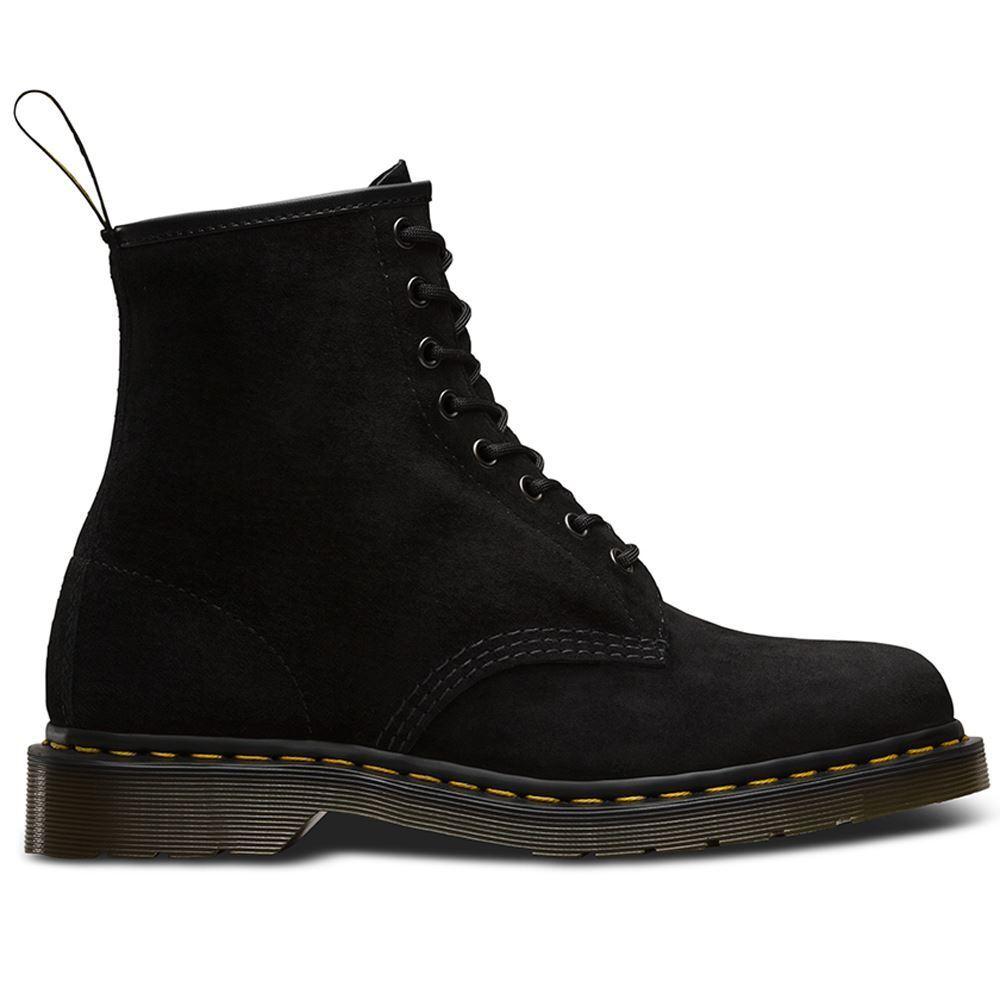 Dr.Martens 1460 8 Eyelet Soft Buck Black Mens Boots