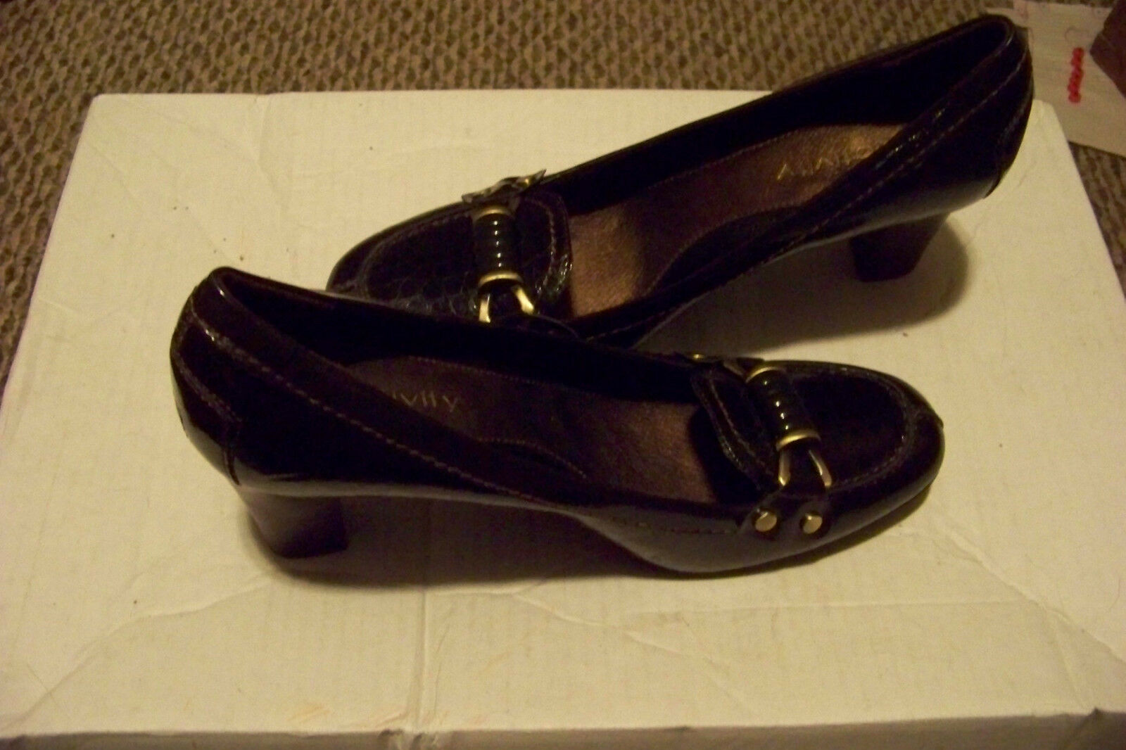 womens relativity brown size claudia brown skin print heels shoes size brown 9 1/2 6aeb44