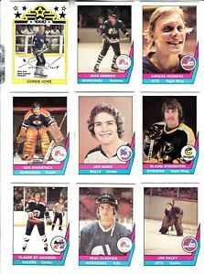 1977-78-OPC-WHA-COMPLETE-SET-1-66-HOWE-HULL-MAHOVLICH-HEDBERG