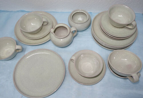 Teile zur Auswahl Keramik Service Craquele Karlsruher Majolika ?
