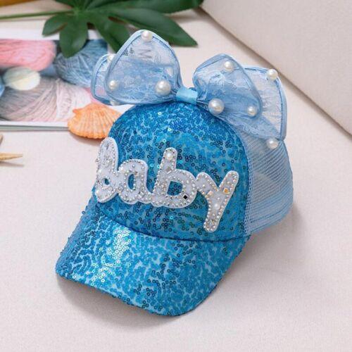 Gorras Para Niñas Cachuchas De Niña Ajustables De Moda Marca Brillantes Lazos