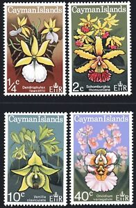 Cayman-Islands-1971-Orchids-set-of-4-Mint-Unhinged