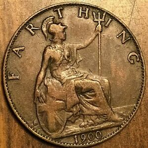 1900 farthing coin