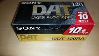 SONY DT-120RA DAT Digital Audio Tape 120 Minuten 10er Pack (10DT-120RA)