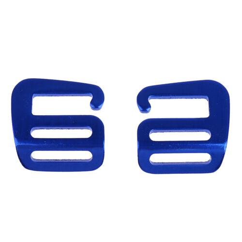 2 x Rucksack 25mm G Haken Gurtband Schnalle 40 x 38 x 2,5 mm Ca