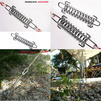 Used for Camping Stainless Steel Windproof Camping Awning Rope Tensioner 10PCS Tent Spring Buckle Fishing and Mountaineering Hiking