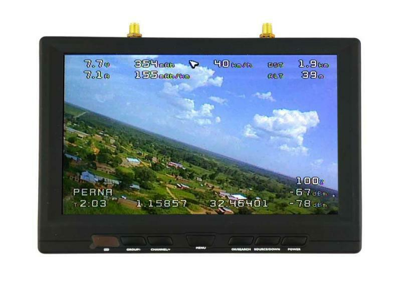 TBS TEAM negroSHEEP 7  HD DIVERSITY LCD FPV SCREEN WITH RSSI AND OSD   LRS RC