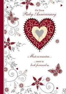 Ruby Biglietto Per Anniversario Di Matrimonio 40 Years Pozzo Dei