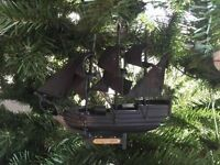 Wooden Flying Dutchman Pirates Of The Carribbean Model Pirate Ship Christmas Tre