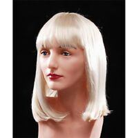 Women's Blonde Wig Bangs Medium Bob Short