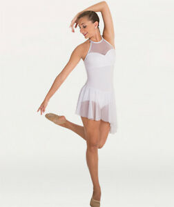 Image is loading IN,STOCK,Bodywrappers,Mesh,Contemporary,Lyrical,Dress,Dance ,