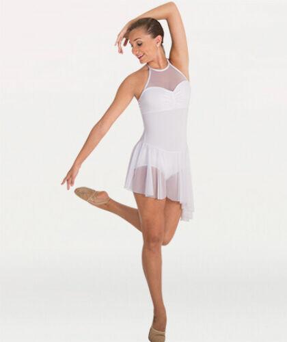 A Pedido Bodywrappers Cuello Alto Vestido Halter Malla contemporáneo Ballet Danza costo