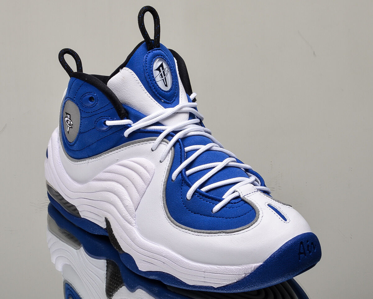 Nike Air Penny II 2 homme retro college basketball lifestyle chaussures NEW college retro Bleu  Blanc 2a7f33