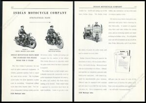 Trade Motorcycle For Car >> Details About 1929 Indian Motorcycle 4 Scout 45 Police Special Armored Photo Trade Print Ad
