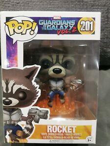 2 Marvel Figura Funko POP ROCKET 201 Guardianes de la Galaxia Vol