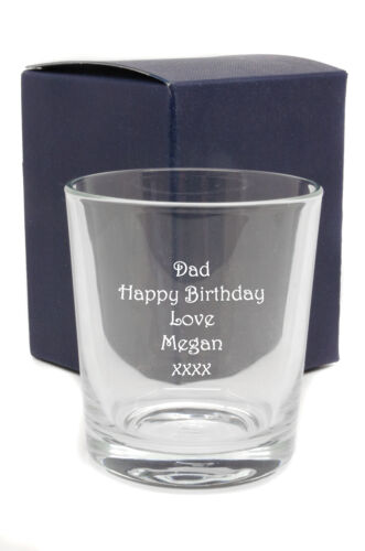 Engraved With Any Message Personalised Whiskey Whisky Glass with Gift Box