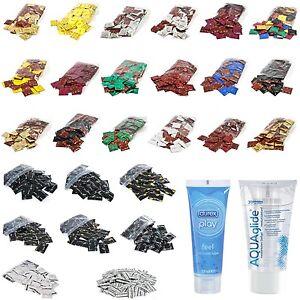 100 Kondome AMOR SICO BILLY BOY DUREX Condome + Aquaglide / Play Gleitgel