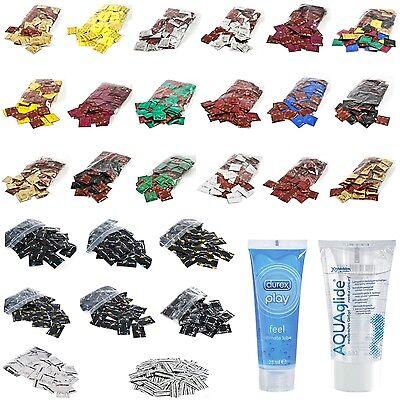 100 / 200 Kondome AMOR / BILLY BOY + DUREX Condome + Aquaglide / Play Gleitgel