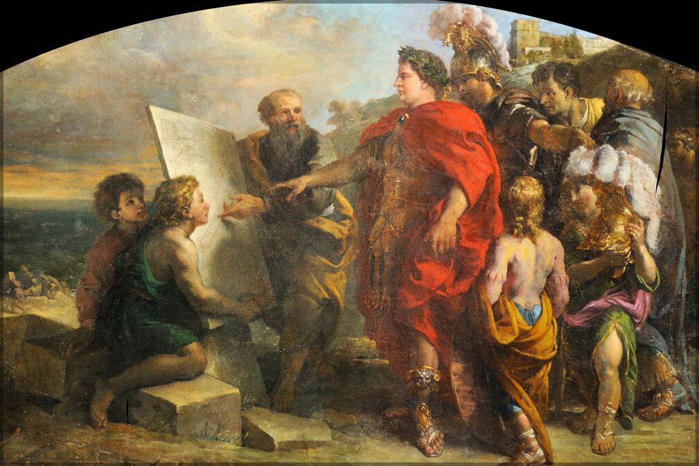 Poster, Molte Misure; Augustus Building The Porta di Misenum di Charles Della