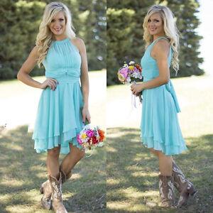 Blue Country Bridesmaid Dresses