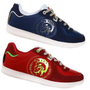 suchen bester Verkauf detaillierte Bilder Details zu DIESEL Herren Schuhe Sneaker Navy/Rot/Weiß Chucks NEU