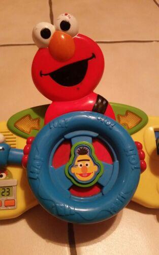 Sesame Street Giggle N Go Driver Elmo Steering Wheel Toy; Mattel 2006