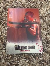 2014 The Walking Dead Daryl-Oscar Red Metal Color Plate Season 3 #29 Rare Look