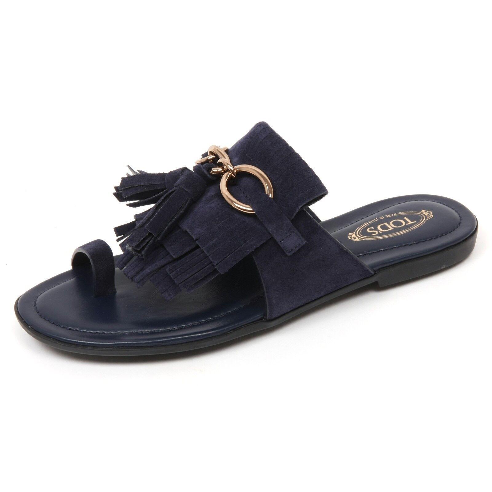 C9102 INFRADITO INFRADITO INFRADITO mujer Tod'S Scarpa Sandalo azul FRANGIA azul Zapato Mujer  los clientes primero