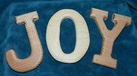 Set Of 3 Unfinished Wood Letters joy Crafts