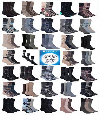 LADIES 3-12  Pairs Sockshop Gentle Grip Diabetic Medical Socks Size  4-8 colour