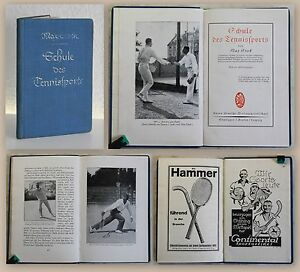 Baston-escuela-del-tenis-puertos-pelota-1925-deporte-ruckschlagspiel-ilustrado-XZ