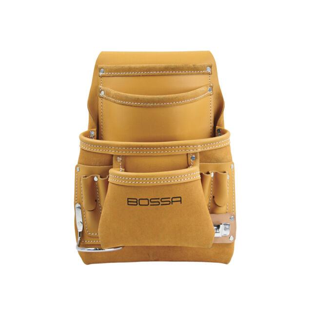 BOSSA 23734 10-Pocket Carpenters Nail and Tool Bag