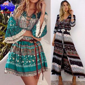 Plus-Size-Women-Boho-Long-Maxi-Dress-Floral-Summer-Party-Evening-Beach-Sundress
