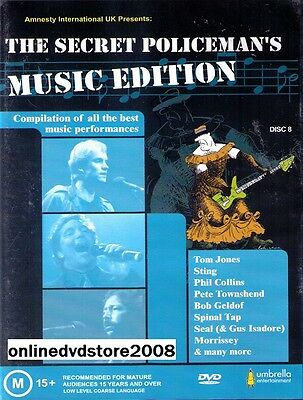 The SECRET POLICEMAN'S BALL - LIVE MUSIC EDITION DVD (NEW & SEALED) Policemans