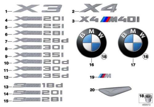 Original BMW 51117338570 Zierblende Seitenwand vorne rechts X3 X4