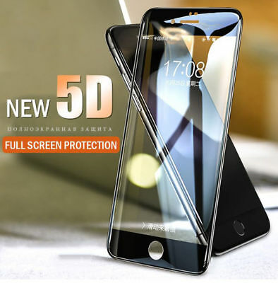 5d - Quality Full Edge Cover Tempered Glass Screen Protector For Apple Iphone Noch Nicht VulgäR