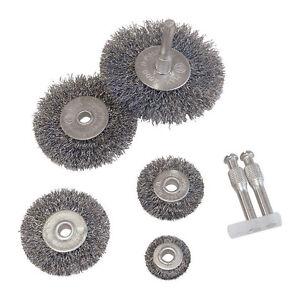 drahtb rste set 7tlg f r bohrmaschine 25 75mm stahl b rste stahlb rste 001830 ebay. Black Bedroom Furniture Sets. Home Design Ideas