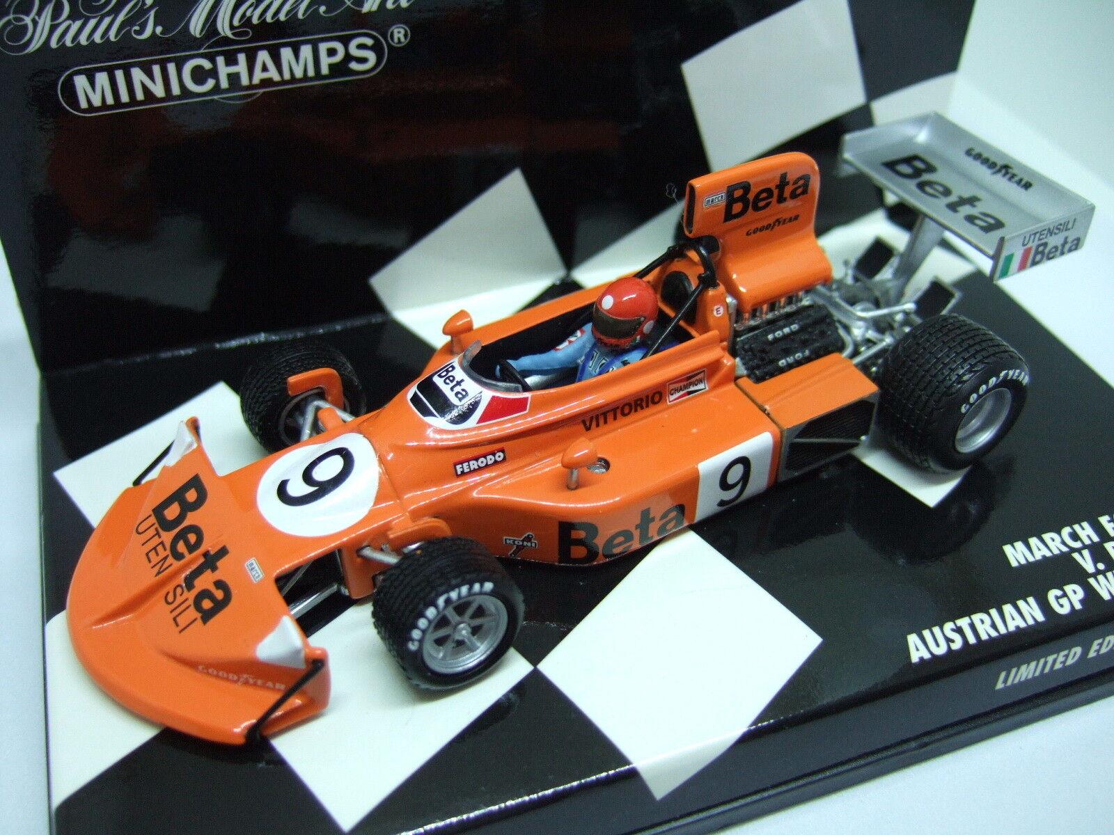 Minichamps BRAMBILLA MARCH FORD 751 AUSTRIACO Vincitore GP GP GP 1975 1:43 7ac3cd