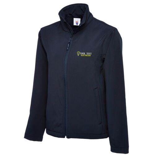 Personalised Embroidered Softshell Jacket ELECTRICIAN  Workwear UNIFORM LOGO