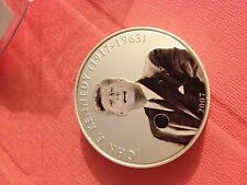 2pc 2007 mongolia kennedy  silver coin,speaker no battery