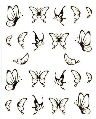 One Stroke Sticker,Tiere,Schmetterling,Gold,Tattoo, Aufkleber  Nr.1387