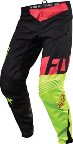 Fox Demo DH Downhill Baggy Cycling Pants Black//White Yellow 34 36 38