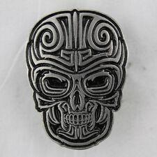 Biker Chopper Motorrad Tribal Skull Totenkopf Schädel Pin Anstecker Anstecknadel