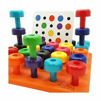 Peg Board Set With Pattern Card By Skoolzy - Fine Motor Toy For... Free Shipping