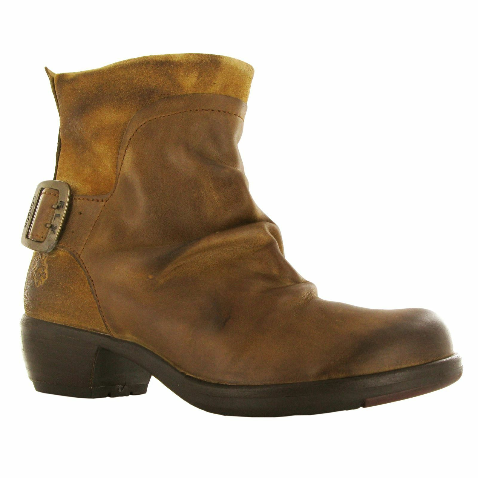 Fly London mel Camel Leather mujer mujer mujer botas 19390f