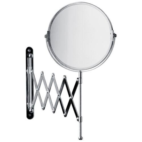 Premier Housewares 2 Way Chrome Extending Circle Bathroom Mirror Wall Mountable