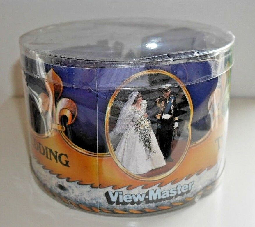 VIEWMASTER ROYAL WEDDING CHARLES & DIANA 1981 PURPLE VIEWER & REELS RARE  B342