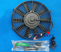 For Universal 9 Inch Universal Electric Radiator Fan W/ Mounting Kit Black