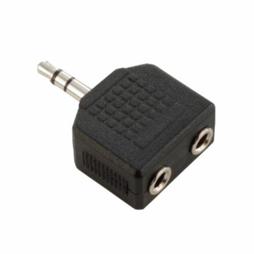 MUSIC STORE Adapter 2x Buchse//1x Stecker 3,5 mm