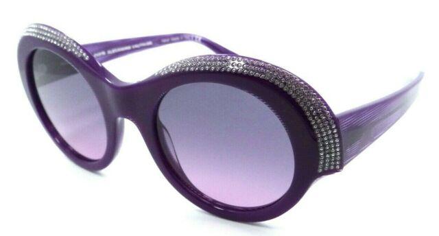 Alain Mikli Sunglasses A05040B 003//6G 50-22-140 Roselyne White Dot Crystals Grey